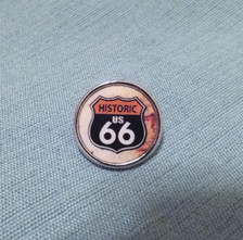 Historic US 66 Hat / Lapel Pin Made in the USA
