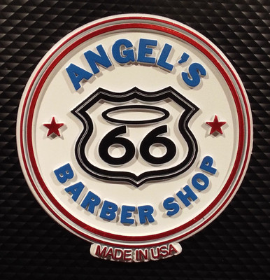 Angel's Barber Shop on Route 66 Magnet