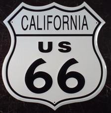 Metal California Route US 66 Sign