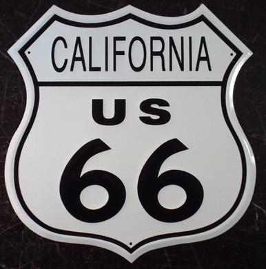 Metal California Us 66 Shield Route 66 Gift Shop