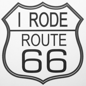 I Rode Route 66 Sticker