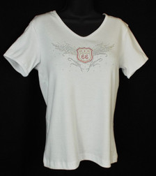 Flying Route 66 Ladies Bling Shirt