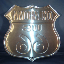 8 state Route 66 shield set: Back