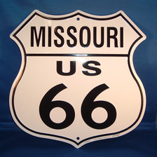 8 state Route 66 shield set: Missouri