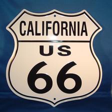 8 state Route 66 shield set: California