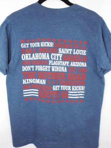 Route 66 Lyrics T-Shirt Back