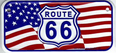 Mini Route 66 American Flag License Plate