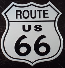 Route US 66 Metal Shield Sign