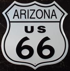 Arizona 66 US Route 66 Metal Shield