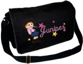 Personalized Applique Cowgirl Diaper Bag Font used for name shown on diaper bag is CUSTOM SCRIPT