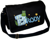 Personalized Applique Gator Letter Diaper Bag Font used for name shown on diaper bag is HOBO Font choice does not affect gator letter