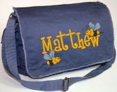 Personalized BUMBLEBEES Diaper Bag Font shown on diaper bag is BOYZ