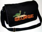 Personalized BRONTOSAURUS Diaper Bag Font shown on diaper bag is CAVEMAN