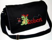 Personalized Volcano Dinosaur Diaper Bag