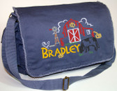 Personalized BARN SCENE Diaper Bag Font shown on diaper bag is BEARTRAP