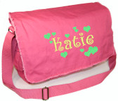 Personalized Polka Dot Diaper Bag Font shown on bag is BOING