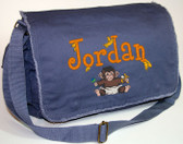 Personalized BABY MONKEY Diaper Bag Font shown on diaper bag is BOYZ