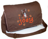 Personalized BABY TIGER Diaper Bag Font shown on diaper bag is BEDROCK