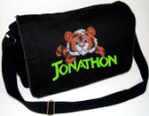Personalized LARGE TIGER Diaper Bag Font shown on diaper bag is BEARTRAP