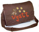 Personalized LION Diaper Bag Font shown on diaper bag is BOYZ