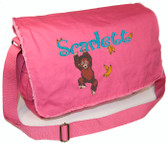 Personalized BABY ORANGUTAN Diaper Bag Font shown on diaper bag is BOING