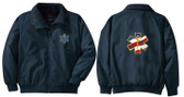 EMT Embroidered Jacket Front & Back