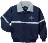 EMT EMS Jacket With Reflective Taping - Embroidered Front