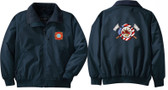 Firefighter Embroidered Jacket Front & Back