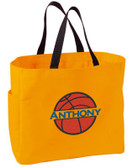 Kid's Basketball Essential Tote Bag Personalized  - Embroidered