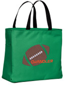 Kid's Football Essential Tote Bag Personalized  - Embroidered
