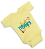 Personalized Anchor Baby Onesie - Size:Newborn