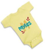 Personalized Anchor Baby Onesie - Size:Newborn