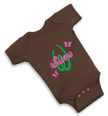 Personalized Butterfly Baby Onesie - Size:6 Month