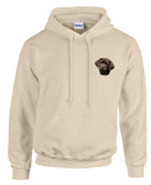 Chocolate Labrador Hooded Sweatshirt