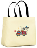 Kid's Firetruck Essential Tote Bag Personalized  - Embroidered