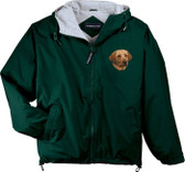 Chocolate Labrador Retriever Hooded Jacket