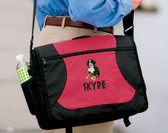 Bernese Mountain Dog Messenger Bag Font Shown on Bag is SUMMER CAMP