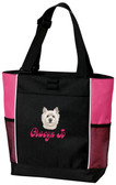 West Highland White Terrier Tote Font Shown on Bag is BELLBOTTOMS