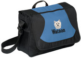 West Highland White Terrier Computer Bag Font Shown on Bag is PIZZA PIE