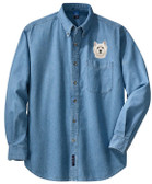 West Highland White Terrier Denim Shirt