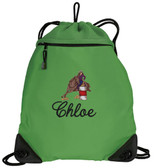 Barrel Racing Cinch Bag Font Shown on Bag is DIANE SCRIPT