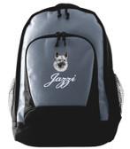 Norwegian Elkhound Backpack Font shown on bag is BICKER SCRIPT