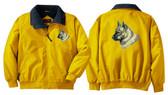 Norwegian Elkhound Jacket Front & Back