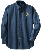 Norwegian Elkhound Denim Shirt