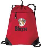 Australian Shepherd Bag Font shown on bag is BELVEDERE