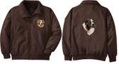 Australian Shepherd Jacket Left Chest & Back