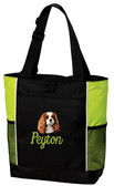 Cavalier King Charles Tote Font shown on bag is SCRIPT