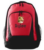Shetland Sheepdog Backpack Font shown on bag is ARGENTIA