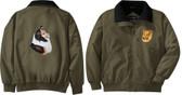 Shetland Sheepdog Sheltie Jacket Left Chest & Back