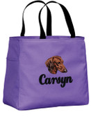 Dachshund Tote Font shown on bag ECLAIR
